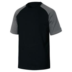 Tee-shirt Deltaplus Genoa gamme Leisure en coton noir/gris taille L