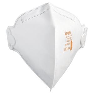 Boite de 30 masques antipoussières pliables Uvex Silv-Air C 3200 FFP2 blanc
