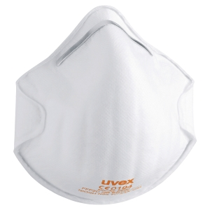UVEX SILV-AIR C 2200 CUP STYLE RESPIRATOR MASKS (BOX OF 20)