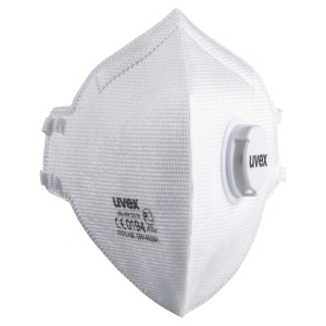 Uvex Silv-Air C 3310 FFP3 Flatfold Disp Respirator Masks With Valve (Bx of 15)