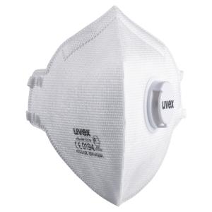 UVEX FFP3 FLATFOLD DISPOSABLE RESPIRATOR MASKS WITH VALVE - BOX OF 15