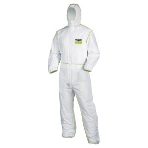 Schutzanzug  uvex 98710, Typ 5/6, Grösse L, weiss/lime