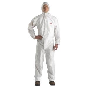 Jednorazový ochranný overal 3M™ 4520,typ 5/6, veľkosť XL, biely