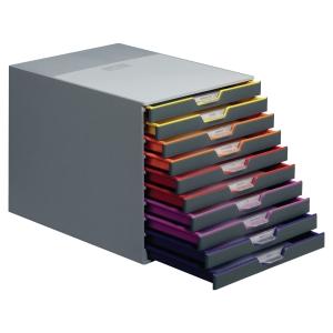 Durable 7605 Varicolor module de rangement 10 tiroirs