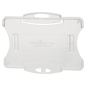 Durable Security Pass Holder 54X85mm Transparent- Pack of 10