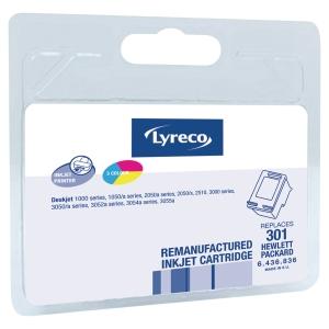 Cartouche jet d encre remanufacturée Lyreco pour HP301 ch562 cyan/magenta/jaune