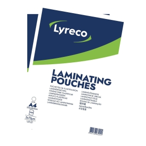 Lyreco A4 Matt Laminating Pouches 150 Micron (2 X 75) - Pack of 100