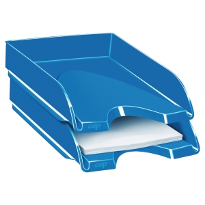 Bandeja de sobremesa azul CEPPRO GLOSS Dimensiones: 257x66x348mm