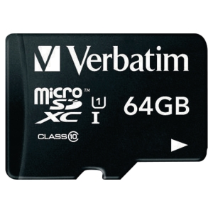 Verbatim Micro SD Speicherkarte, 64 GB Adapter