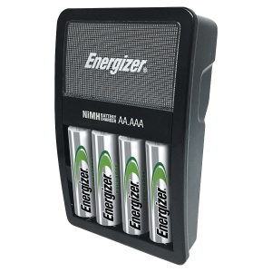 CARICATORE ENERGIZER MAXI PER 4 BATTERIE RICARICABILI AA/AAA CON 4 BATTERIE AA