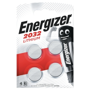 BATTERI CR2031 ENERGIZER CR2032 LITHIUM KNAPPCELLE PK4