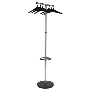 Garderobe Alba PMWAVE2, Maße: 173 x 50cm, silber