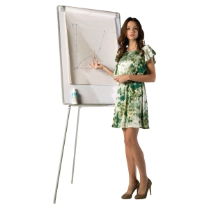 Flipchart Bi-Office EA2376996 Earth-It, Maße: 85 x 60cm, silber/swz