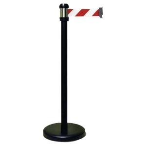 Słupek VISO z taśmą odgradzającą czerwono-białą, 2 m x 5 cm/do wyczer. zapasów
