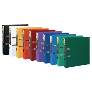 Classeur à levier Exacompta Prem Touch - dos 8 cm - coloris office - lot de 10