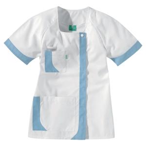Lafont Health & Care korte uniformjas voor vrouwen wit/sky blue - maat 0