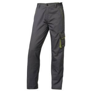 Pantalon de travail Deltaplus Panostyle en polyester coton gris/vert taille M