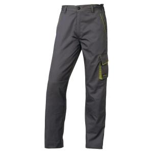 Pantalon de travail Deltaplus Panostyle en polyester coton gris/vert taille L