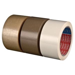 Ruban adhésif d emballage PVC Tesa 4120 - 75 mm x 66 m - havane - lot de 4