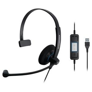 Sennheiser SC30 PC headset met snoer- monauraal