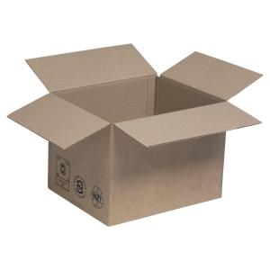 Amerikaanse doos kraft enkele golf 230 x 190 x 160 - pak van 25