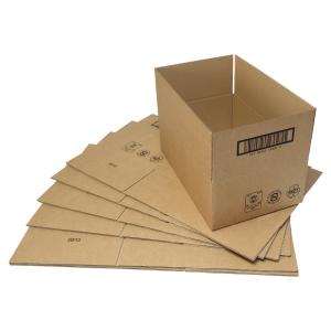 Versandschachtel, 400x300x270 mm, einwandig, braun, Packung à 25 Stück
