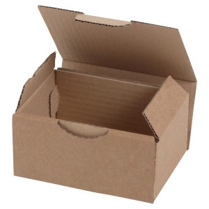 Shipping box 350 x 220 x 130 mm brown - pack of 50