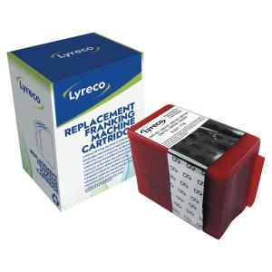 Lyreco compatibele Pitney Bowes 793-5 F frankeercartridge, fluorescerend rood