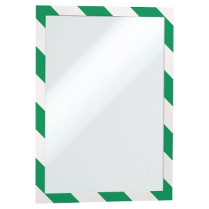 Durable Green/white A4 Security Duraframe - Pack of 2