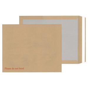 LYRECO MANILLA 17 1/2 X 14 1/2IN PEEL SEAL BRD-BACK ENVELOPES 115GSM - BOX OF 50