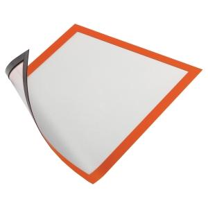 Infotasche Durable 4869, Magnetrahmen, A4, magnetisch, orange, 5 Stück