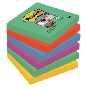 Pack de 6 blocks notas adhesivas Post-it Super Sticky Marrakesh 76x76mm