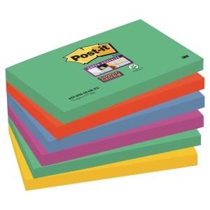 Post-it Super Sticky Notes MarraKesh, 76 x 127 mm, pakke a 6 stk.