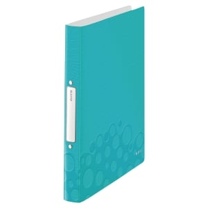 LEITZ WOW 2-RING BINDER POLYPROPYLENE A4 ICE BLUE