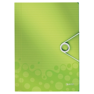 Obal se 3 klopami Leitz Wow, barva zelená