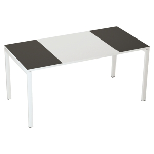 BUREAU DROIT EASYDESK BY PAPERFLOW ANTHRACITE ET BLANC 160X80