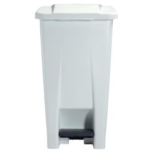 Poubelle plastique mobile a pedale 60l rossignol by cep blanc