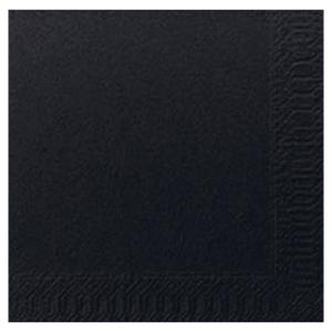 Duni servetten 2-laags zwart - pak van 300
