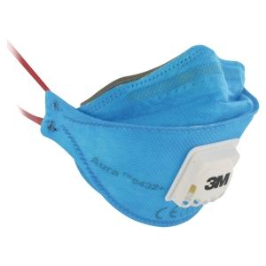 Atemschutzmaske 3M 9432+, Typ: FFP3, mit Ventil, blau, 10 Stück