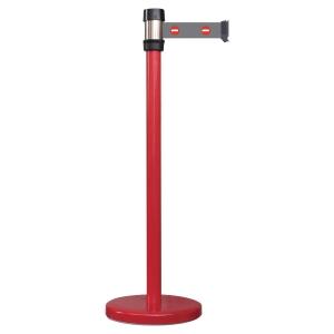 Gurtabsperrpfosten Viso RE2ROENT, mit 2m Gurt, mit Bremse, Höhe: 980mm, rot/grün