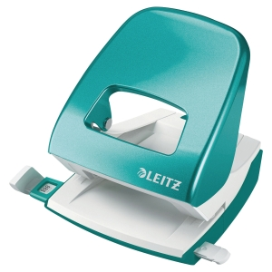 LEITZ WOW 2-HOLE PUNCH 5008 30 SHEETS - ICE BLUE