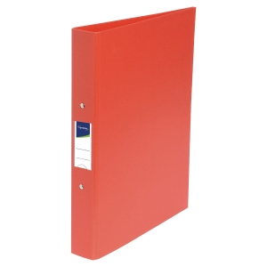LYRECO PP RING BINDER, 2 O-RINGS, 32X25.5CM, A4, 40MM SPINE - RED