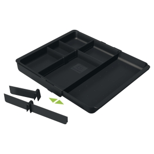 EXACOMPTA OFFICE DRAWERINSERT ADJUSTABLE DRAWER INSERT, 298X246X36MM - BLACK