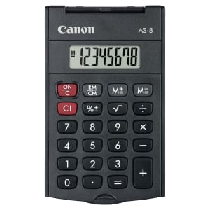 CALCULATRICE DE POCHE AS-8 NOIRE