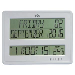 Orium digitale klok met kalender zilver