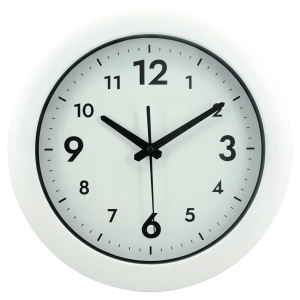 Alba Easy Time round wall clock - white