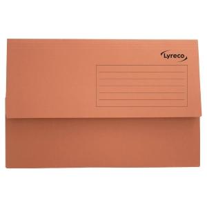 Lyreco Document Wallets Foolscap 250gsm Orange - Pack Of 50