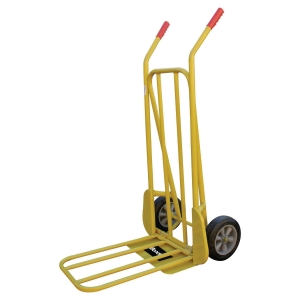 Carrito plegable de metal com resistencia 250 Kg SAFETOOL 3210 de color amarillo