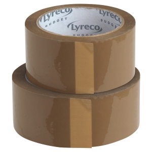 Pack de 6 cintas de embalar Lyreco Budget PP 50mmx100m color marron