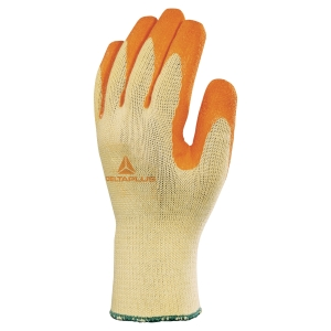 Deltaplus Pair Latex Gripper Gloves Orange/ Yellow - Size 8